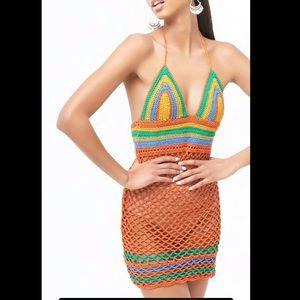 Crochet Knit Halter Dress. - NWOT